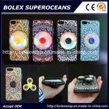 shell móvil del iPhone con el hilandero del dedo, caja del juguete de la persona agitada del hilandero de la mano 2 in-1