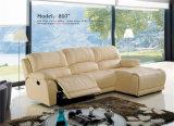 Base de sofá de cuero del sofá 3seater del Recliner de la tela
