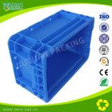 Caixa plástica resistente da cor azul para logístico