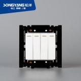 Переключатель стены серии 4gang PC белый