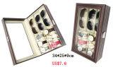 宝石類の腕時計のEyewearのサングラス陶磁器の中国(X032)のための贅沢でよいMDFの革品質のEyewearのディスプレイ・ケース