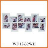 Установленная картинная рамка коллажа MDF способа (WD12-32WH)