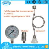 100mm Edelstahl-Druckanzeiger mit Kühler und Druckdose
