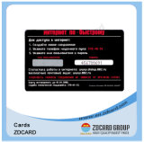 Cartões de sociedade plásticos transparentes do código de barras