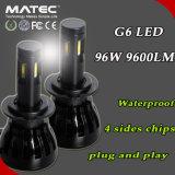 Wasserdichte Birne H1 H3 H4 H7 H11 9005 des Scheinwerfer-H5 9006 LED-Scheinwerfer