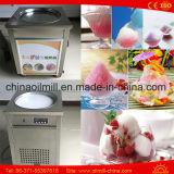 Het Broodje die van het Roomijs van het Gebraden gerecht van Thailand de Gebraden Machine van het Roomijs maken