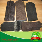 Gants Fingerless de basane chaude/complètement gants de fourrure de Fingle/gants de travail de basane/gants soudure de basane