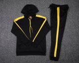 Borussiaドルトムントのサッカーのトラックスーツ17 18 BorussiaドルトムントのトラックスーツのBvbの黄色い黒はセーターを遊ばす