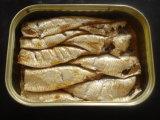 Pescados conservados del alimento conservado, alta calidad de la fruta conservada