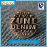 Кнопка джинсыов Demin сплава с логосом