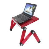 """Laptop-Schreibtisch Alu Panel-faltbare Höhe justierbar bis zu 17 """" (T3A)"""