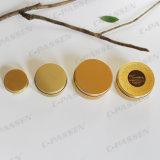 Casella di alluminio dorata per l'imballaggio della caramella del regalo (oro lucido)