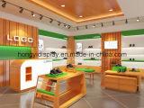 Dispositivo del almacén de zapatos de los hombres del ocio, estantes de una tienda, visualización de la venta al por menor
