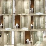 Pièce de douche en verre se pliante de Frameless de salle de bains de charnière simple