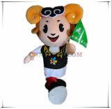 Traje feliz da mascote dos carneiros para o jogo dos esportes
