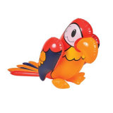 Bird Toy 50cm PVC ou TPU Parrot gonflable