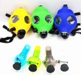 Le masque de gaz acrylique créateur de pipe de fumage de pipe de masque de gaz de narguilé d'usager siffle la pipe acrylique de Tabacco Shisha de pipe