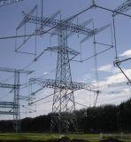 Ligne aérienne tour angulaire de boîte de vitesses d'énergie électrique d'acier de trellis