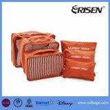 靴袋の圧縮旅行荷物のオルガナイザーが付いている7つのセットのパッキング立方体