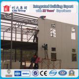 Grande costruzione con il montaggio strutturale d'acciaio