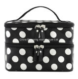 Organiseur de rangement imprimé de maquillage en satin Toiletry Travel Beauty Cosmetic Bag
