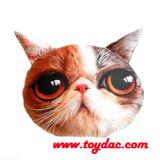 Coxim artificial enchido impresso Digitas da cabeça do gato