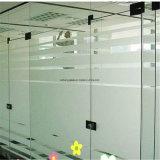 o ácido do espaço livre de 4mm gravou o vidro geado de vidro