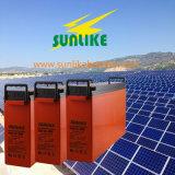 UPS를 위한 태양 깊은 주기 12V200ah 정면 끝 통신 건전지