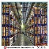 中国の金属の冷蔵室パレットラック棚付け