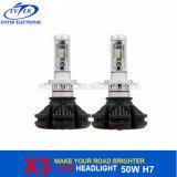 Philips 칩 팬 X3 차 LED 가벼운 자동차 부속 헤드라이트 전구