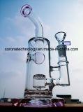 Tubi di vetro di fumo di vetro del portacenere del mestiere della ciotola alta di colore del tabacco del riciclatore di alta qualità del tubo di acqua del Birdcage del favo R38 di Adustable dell'acquazzone di vetro blu del tabacco