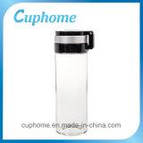 botella de agua de cristal 700ml con el filtro del té