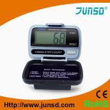 Mini podómetro de Digitaces LCD de la aptitud enorme de la exhibición (JS-206A)