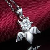 鎖が付いている恋人925の純銀製の悪魔の天使の吊り下げ式のネックレス