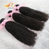 Weave Burmese do cabelo de Remy do cabelo humano do Virgin da onda 8A Kinky