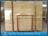 Travertin naturel en pierre de marbre Beige pour les carreaux de sol / mur de salle de bains