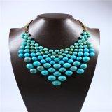 Nouveau design rouge acrylique bijoux de mode collier bracelet boucle d'oreille
