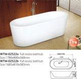 Banheira estreita oval embebendo acrílica oval da borda da banheira do preço barato novo