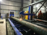 5 cortador del plasma del plasma de acero Machinery//Pipe del CNC del tubo del eje que hace frente