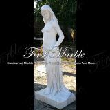 Statue blanche Main-Découpée Ms-1001 de Carrare de granit de pierre de marbre de sculpture