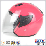 Dame Red Open Face Motorcycle/de Helm van de Motor (OP226)
