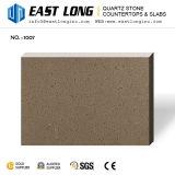 純粋なベージュ水晶石の平板は壁パネルの/Countertops/Engineered/Vanityの上のために卸し売りする