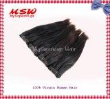 Естественные черные человеческие волосы Weavings девственницы