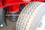 Di Ctsm 3-Axles del fascio della base rimorchio diritto rosso semi con i fori della colonna