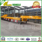 Aanhangwagen van de Vrachtwagen van het Bed van de Machines van het Vervoer van de tri-as 60t de Lage