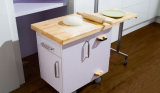 Kleine Küche-Geräten-ökonomische Lack-Oberflächen-moderner Küche-Schrank (zz-018)