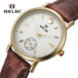 De Dames van Belbi letten Leer van het van de Bedrijfs manier Horloge van de Reeks op het Waterdichte