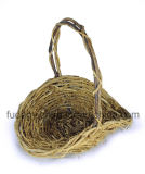 Cesta floral do Rattan Handmade natural