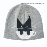 자카드 직물 모자 두개골 모자에 의하여 뜨개질을 하는 모자 아이 베레모 모자
