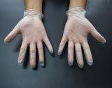 Перчатка винила ясного порошка свободно, устранимая перчатка, PVC промышленной перчатки 9 дюймов